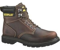 Cat Men's Second Shift Steel Toe Work Boots - Brown