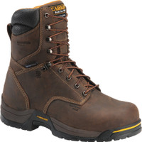 "Carolina Men's 8"" Waterproof 600G Insulated Broad Composite Toe Work Boots - Brown"