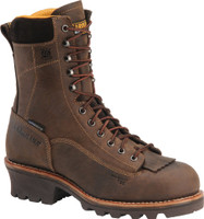"Carolina Men's 8"" Waterproof  Logger Work Boots - Brown"