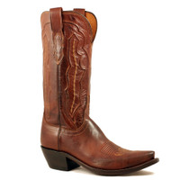 Lucchese Women's Ranch Hand Cowboy Boots - Tan