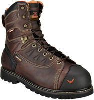 "Thorogood Men's 6"" Waterproof Composite Toe Metguard Work Boots - Brown"