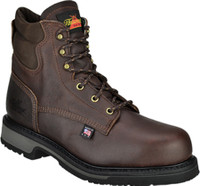 "Thorogood Men's American Heritage 6"" Steel Toe Work Boots - Brown"