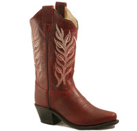Jama Old West Children's Cowboy Boots - Burgandy