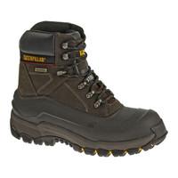 Cat Men's Flexshell Waterproof Steel Toe Insulated Work Boots - Black Coffee