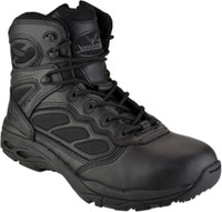 Thorogood Men's 6'' Nylon Side Zip Metal Free Uniform Work Boots - Black