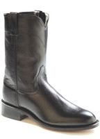 Jama Old West Men's Roper Toe Western Boot - Black