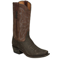 Lucchese Men's Carl Sanded Shark Skin in Chocolate