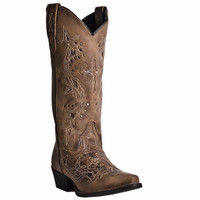 Laredo Women's Cross Point Cowboy Boots - Tan