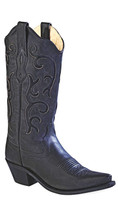 Jama Old West Women's Cowboy Boots - Black