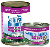 Natural Balance Venision and Sweet Potato Canned Dog Food 13oz