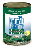 Natural Balance Lamb Canned Dog Food 13oz