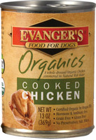 Evanger's Organics Cooked Chicken Canned Dog Food, 12.08-oz