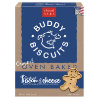 Cloud Star Original Buddy Biscuits with Bacon and Cheese Dog Treats 16 oz