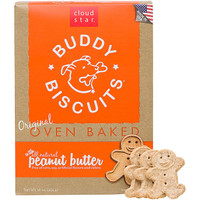 Cloud Star Original Oven Baked Buddy Biscuits with Peanut Butter Dog Treats 16oz
