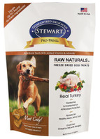 Stewart Pro-Treat Raw Naturals Real Turkey with Berries & Flaxseed Freeze-Dried Dog Treats, 4-oz bag