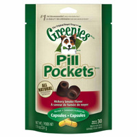 Greenies Pill Pockets Canine Hickory Smoke Flavor Dog Treats