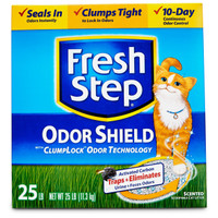 Fresh Step Odor Shield Scoopable Clumping Cat Litter 42lbs