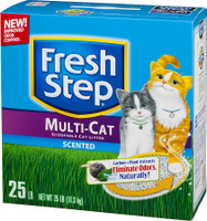 Fresh Step Multiple Cat Scoopable Clumping Cat Litter 25b