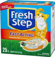 Fresh Step Fast Acting Cat Litter, 25-lb Box