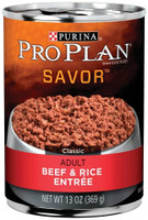 Purina Pro Plan  Savor Adult Beef and Rice Entree 10-oz Canned Dog Food