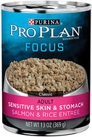 Purina Pro Plan Classic Sensitive Skin & Stomach Salmon & Rice Entree Canned Dog Food