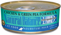 Natural Balance L.I.D. Limited Ingredient Diets Chicken & Green Pea Formula Canned Cat Food, 3-oz