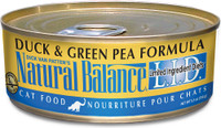 Natural Balance L.I.D. Limited Ingredient Diets Duck & Green Pea Formula Canned Cat Food, 3-oz