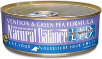 Natural Balance L.I.D. Limited Ingredient Diets Venison & Green Pea Formula Canned Cat Food, 3-oz