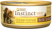 Nature's Variety Instinct Grain-Free Chicken Formula Canned Cat Food, 5.5-oz