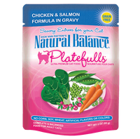 Natural Balance Platefulls Grain-Free Chicken & Salmon Formula in Gravy Cat Food Pouches 3oz