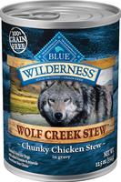 Blue Wilderness Wolf Creek Stew Chunky Chicken Grain Free Adult Canned Dog Food 12.5oz