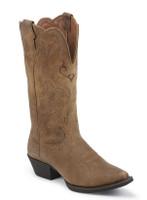 Justin Women's Puma Snip Toe Cowboy Boots - Tan