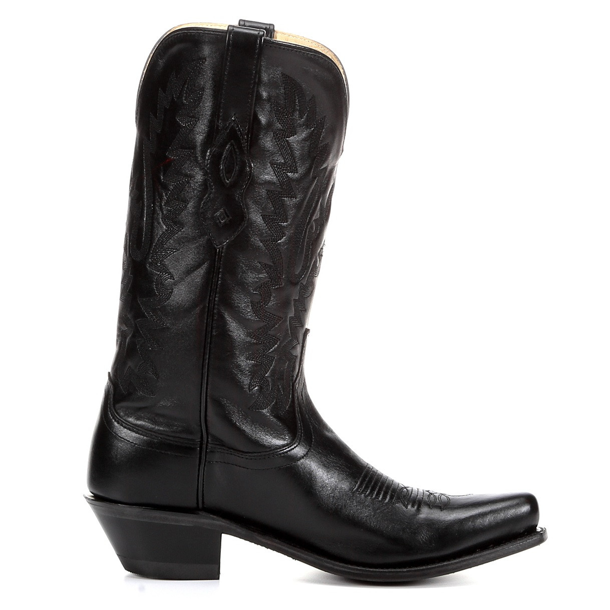 jama west s snip toe western boot black chaar