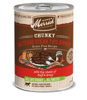 Merrick Chunky Big Texas Steak Grain Free Canned Dog Food