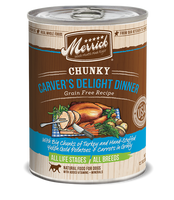 Merrick Chunky Carver's Delight Grain Free Canned Dog Food