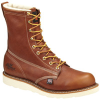 "Thorogood Men's 8"" Composite Toe Waterproof Wedge Sole Work Boots - Tan"