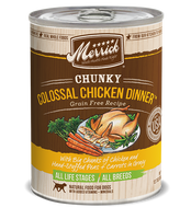 Merrick Chunky Colossal Chicken Dinner Grain Free Canned Dog Food