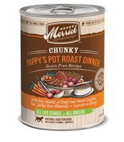 Merrick Chunky Pappy's Pot Roast Grain Free Canned Dog Food