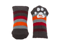 RC Pets Pawks Grey Stripes XL Dog Socks