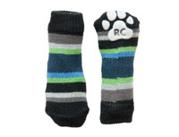 RC Pets Pawks Blue Stripes Dog Socks