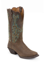 Justin Women's Sorrell Apache Cowboy Boots - Distressed Brown