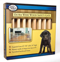 FOUR PAWS Vertical Wood Slat Gate 96in