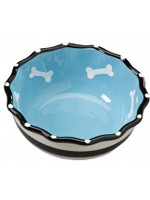 Contemporary Ruffle Dish, 5″ Dog Blue