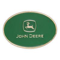 Montana Silversmiths John Deere Green Small Oval Attitude Buckle