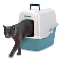 Petmate Deluxe Hooded Pan With Microban 21in