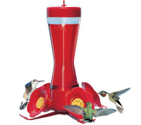 Pinch Waist Glass Hummingbird Feeder