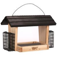 6 QT Hopper Feeder w/2 Suet Cages