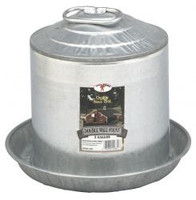 Double Wall Metal Poultry Fount 2 Gallon