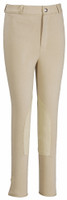 JPC TuffRider Children's Light Cotton Knee Patch Breech - Light Tan