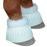 Fleece Lined Bell Boot - White